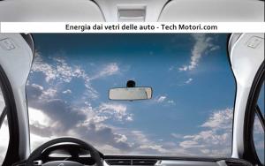 Vetri delle auto che producono energia pulita, incredibile