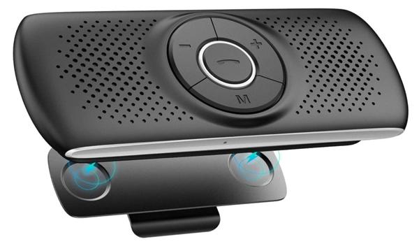 AGPTEK Vivavoce Auto Bluetooth 5.0 con Siri Assistente Comandi Vocali di Google